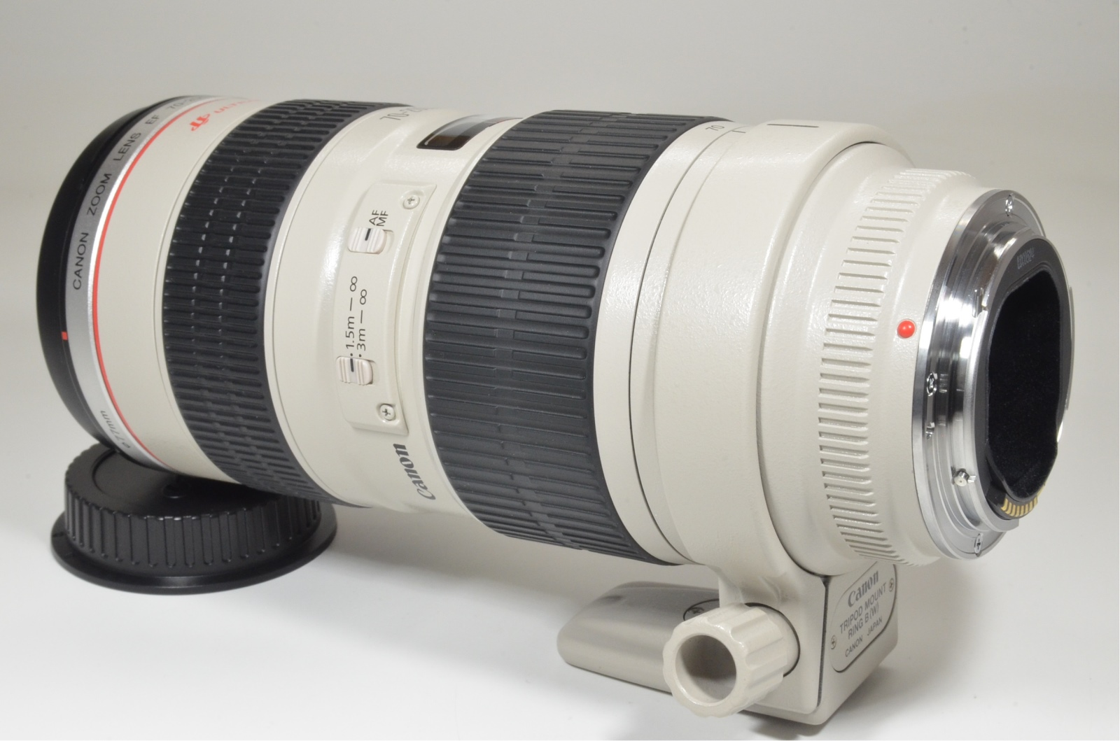 canon ef 70-200mm f/2.8 l usm ultrasonic lens with lenc case