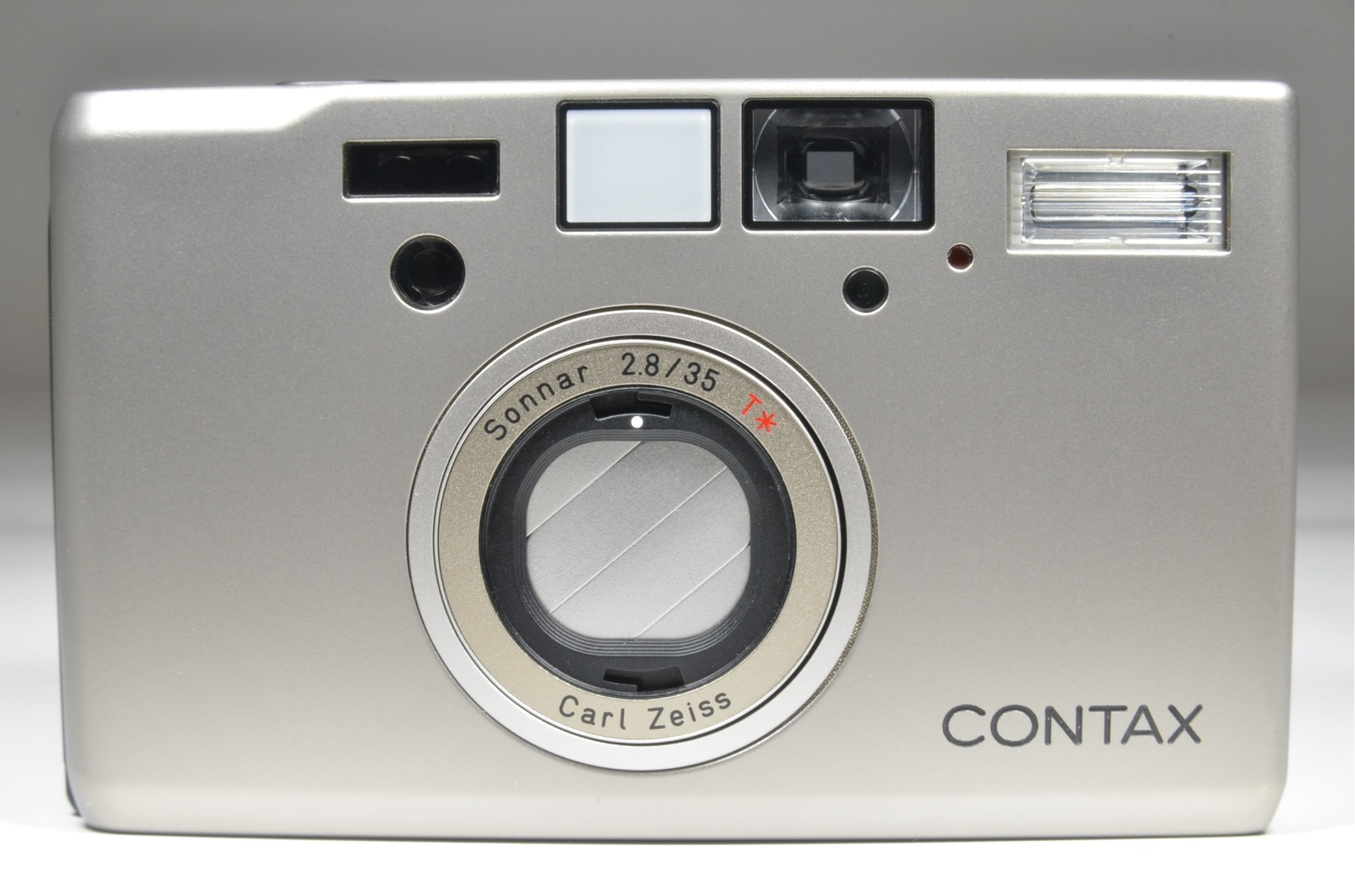 contax t3 35mm film camera with 30.5 adapter and metal hood k-34