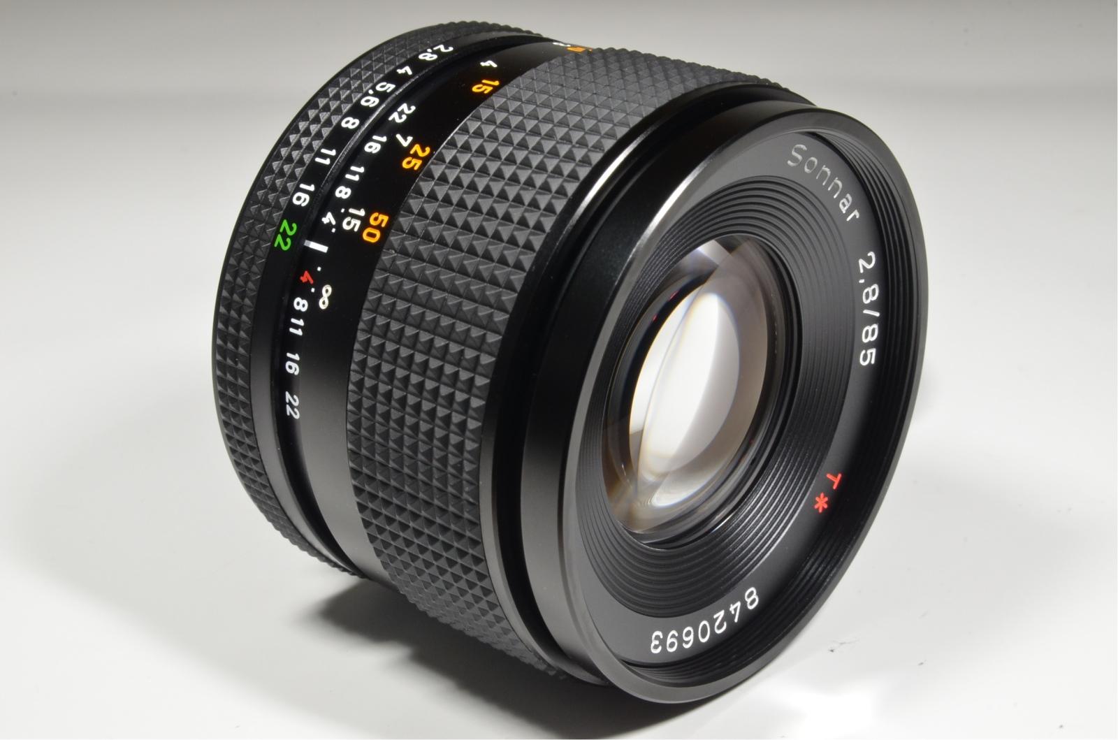 contax carl zeiss sonnar t* 85mm f2.8 mmg
