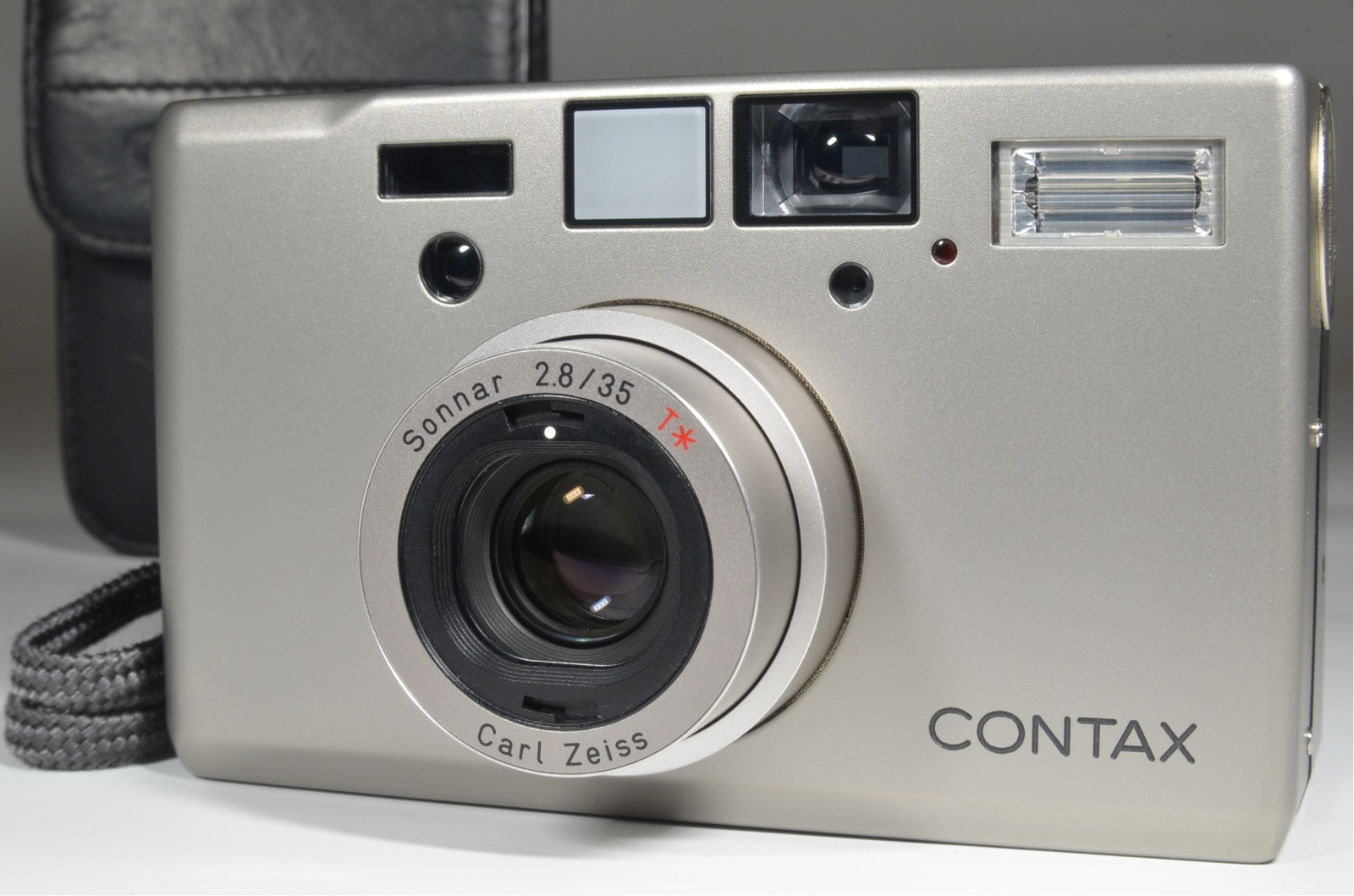 contax t3 point & shoot 35mm film camera double teeth
