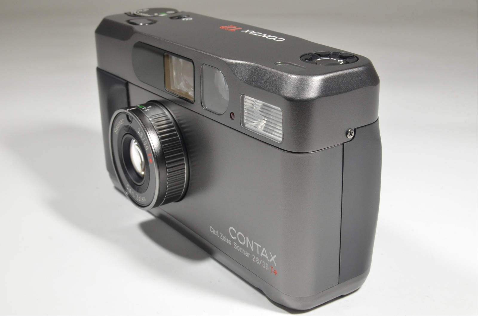 contax t2 data back titanium black point & shoot 35mm film camera