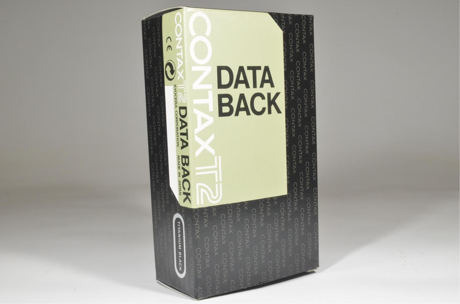 contax t2 data back panel titanium black