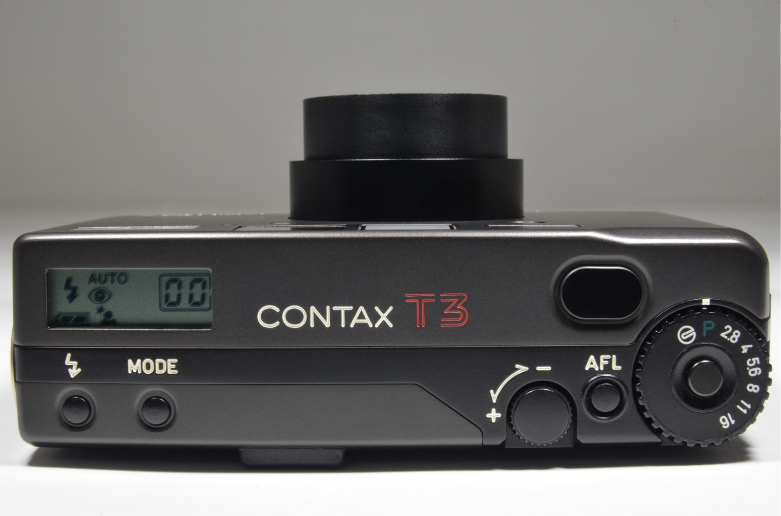 contax t3 data back titanium black 35mm p&s film camera