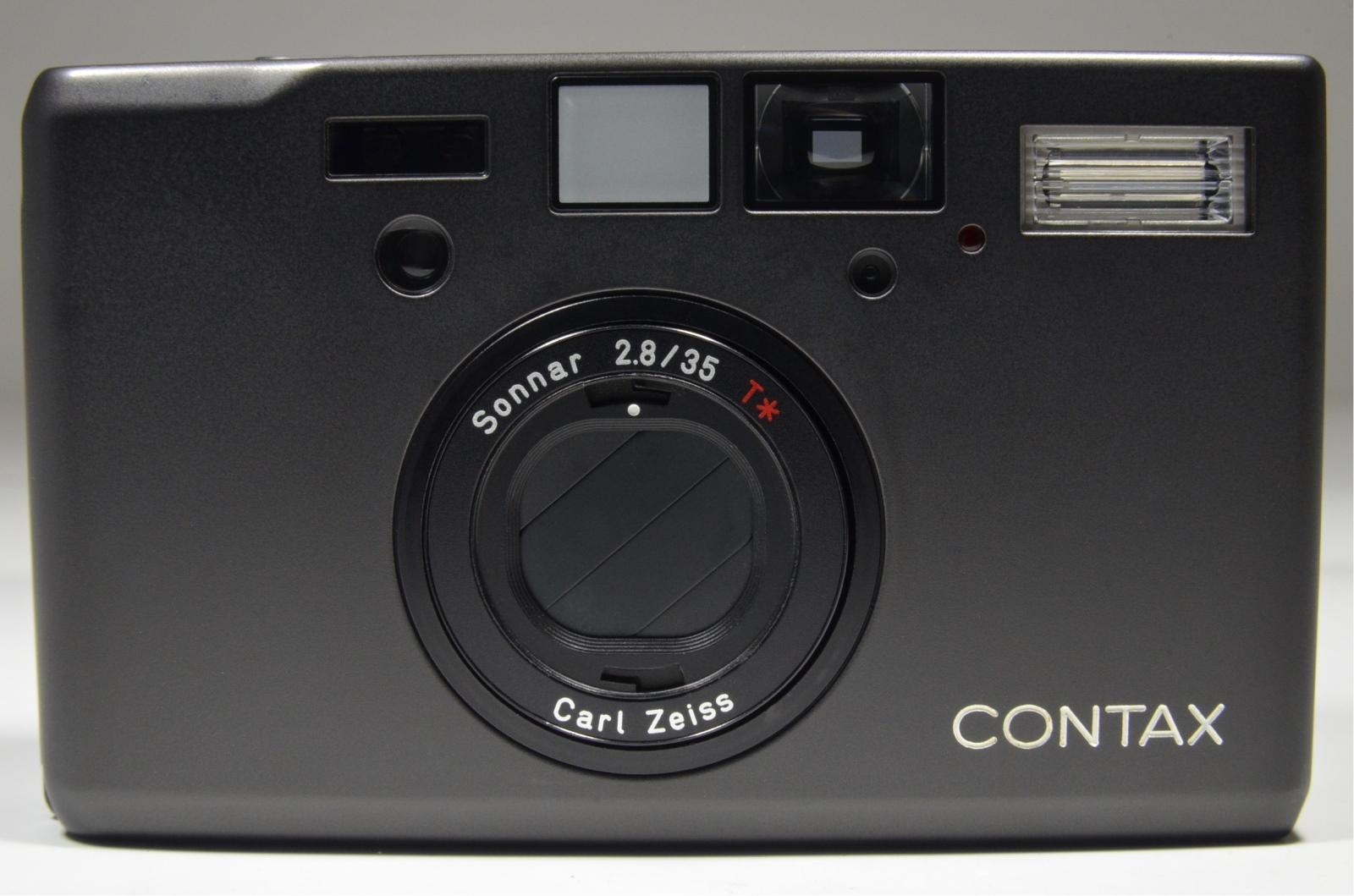 contax t3 titanium black double teeth 35mm film camera
