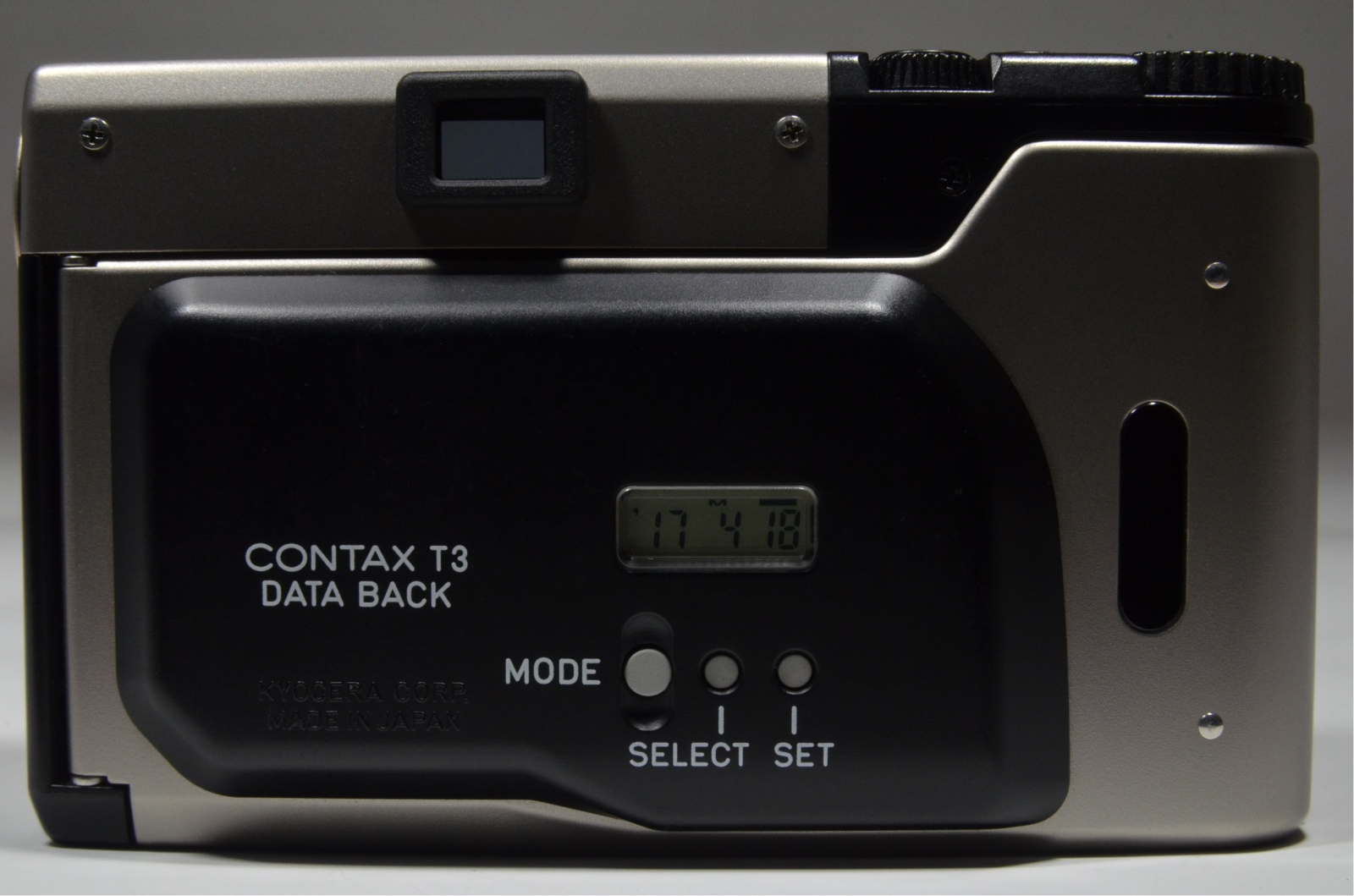 contax t3 data back 'double teeth' p&s 35mm film camera