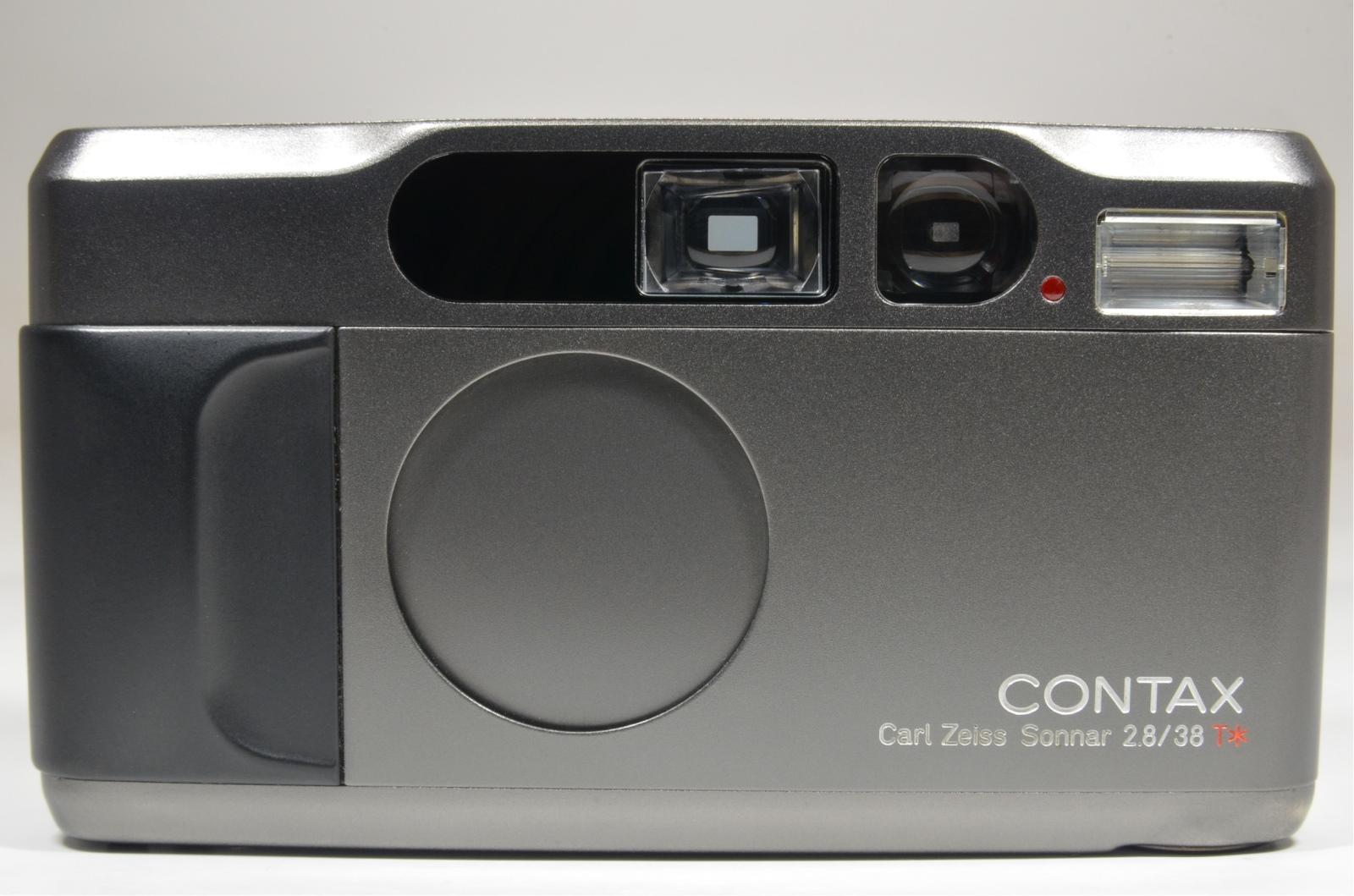 contax t2 data back titanium black p&s 35mm film camera