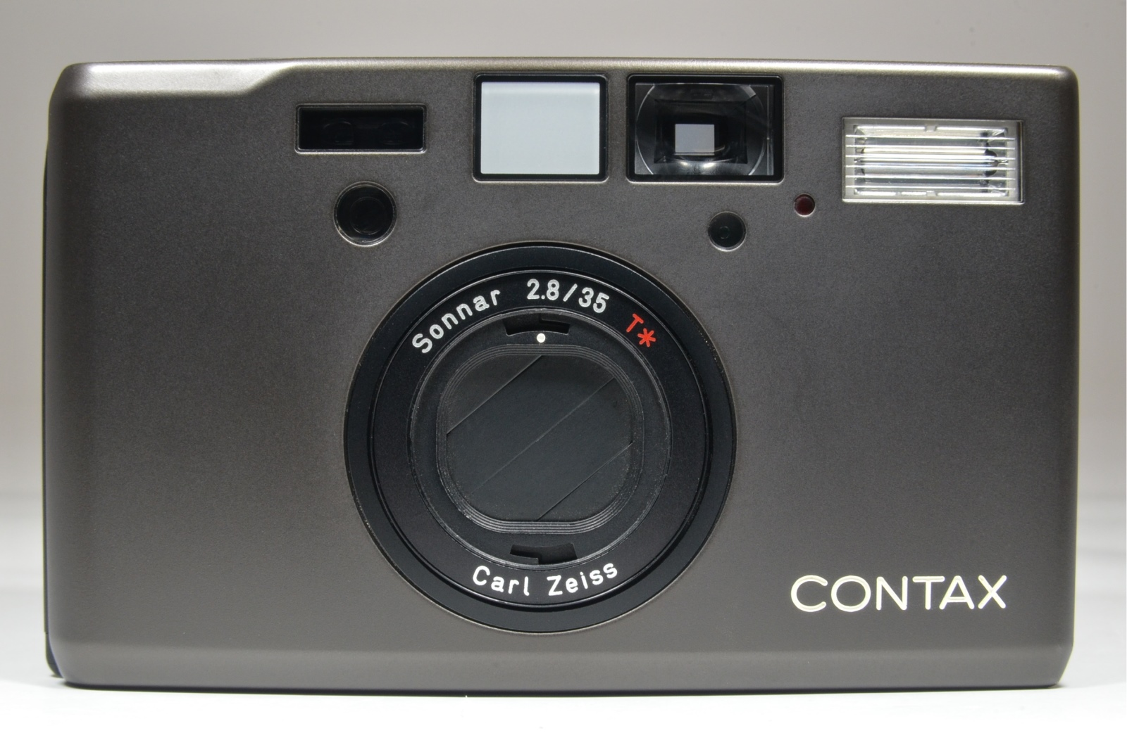 contax t3 black double teeth with funper leather half case