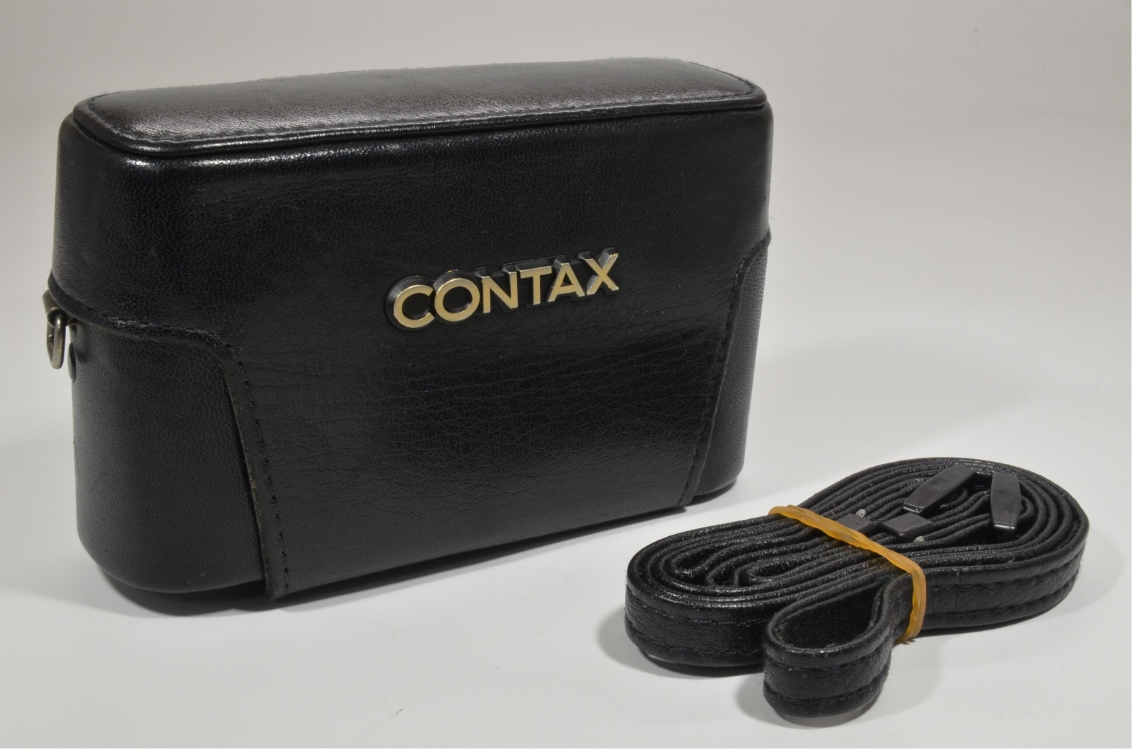 contax t2 titanium silver 35mm film camera full leather case