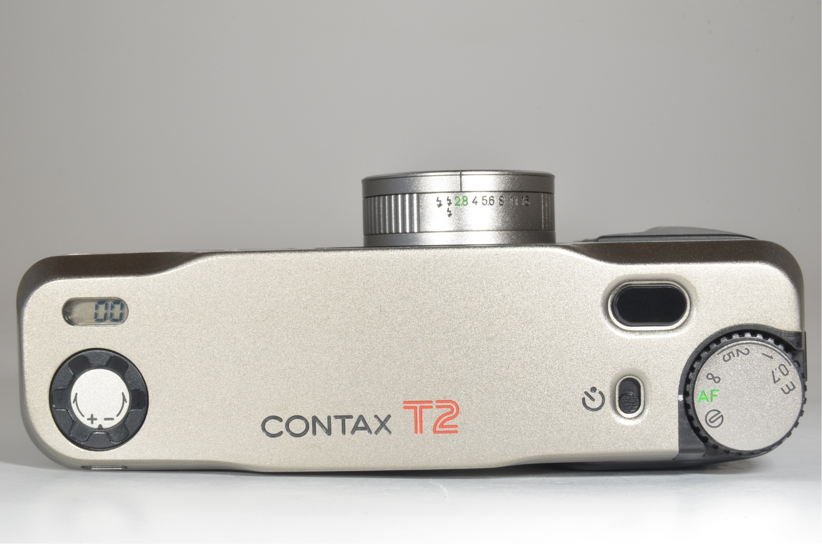 contax t2 titanium silver p&s 35mm film camera in boxed