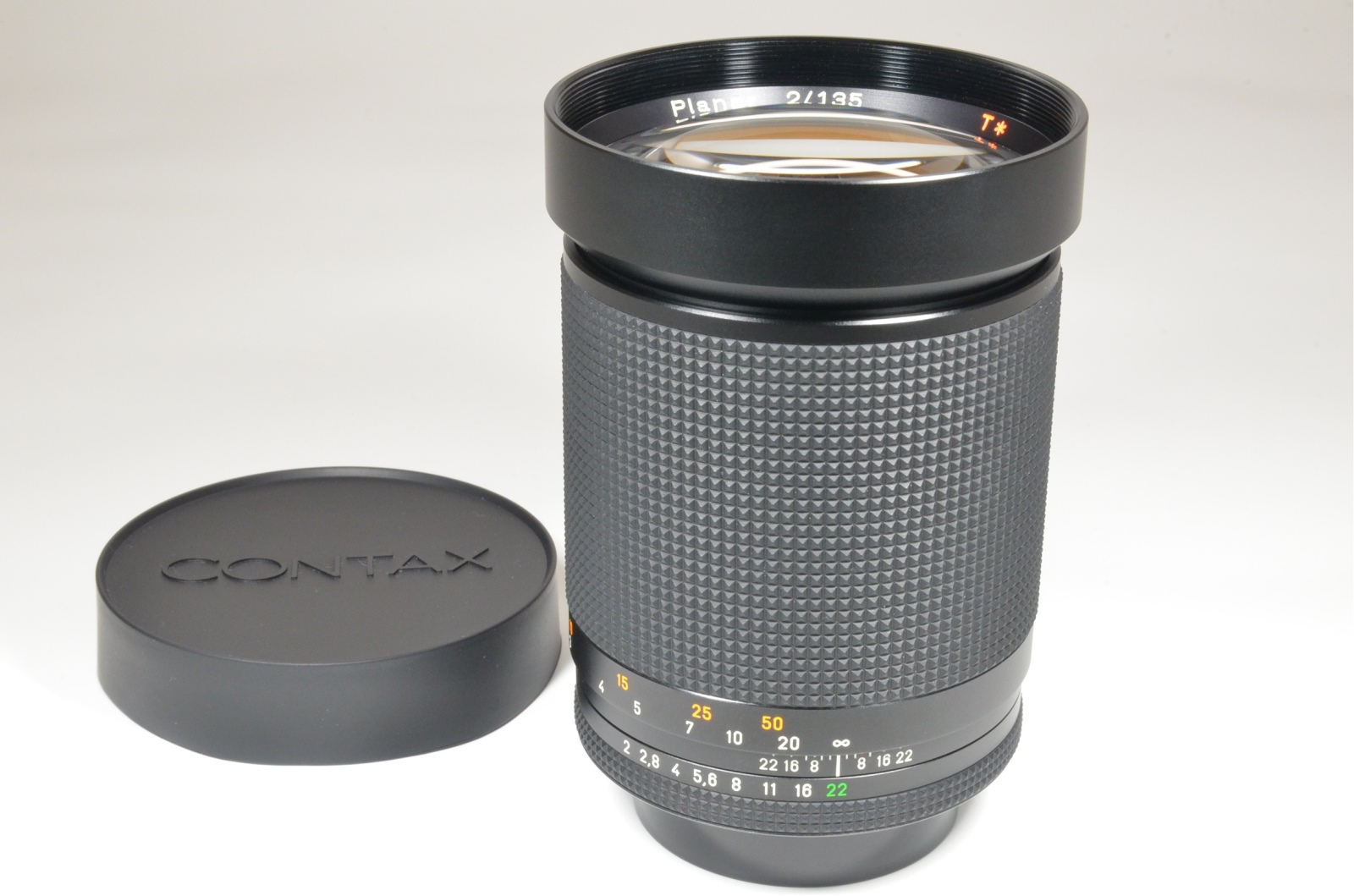 contax carl zeiss planar t* 135mm f2 mmg made in west germany rare!