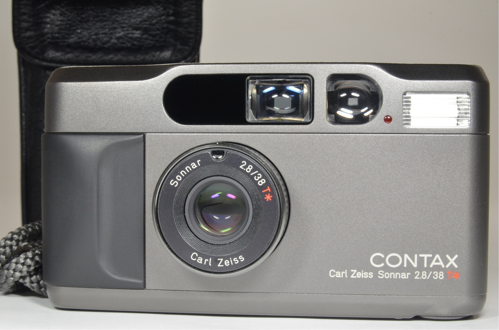 contax t2 data back titanium black p&s 35mm film camera