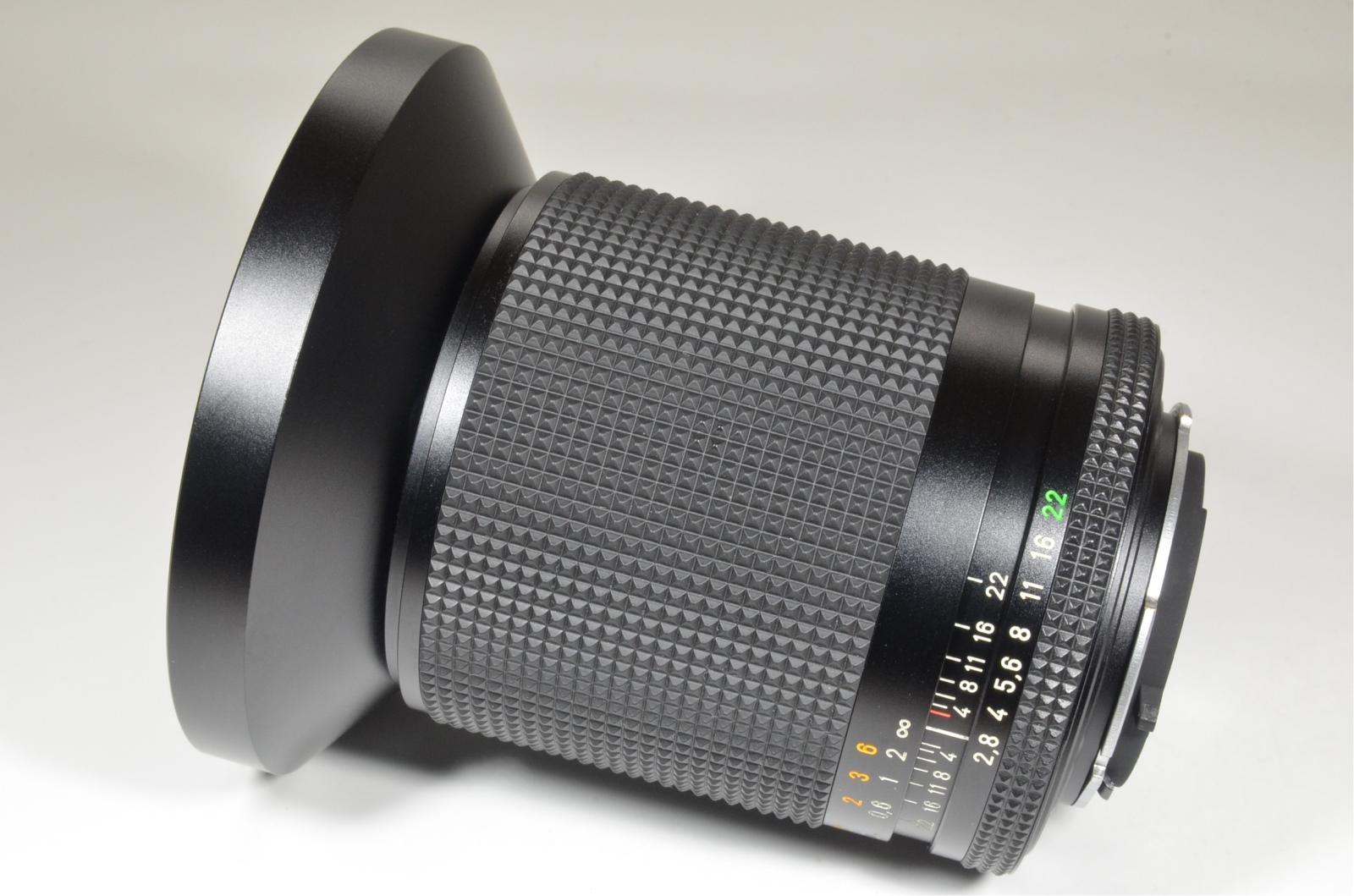 contax carl zeiss distagon t* 21mm f2.8 mmj with metal hood w-1