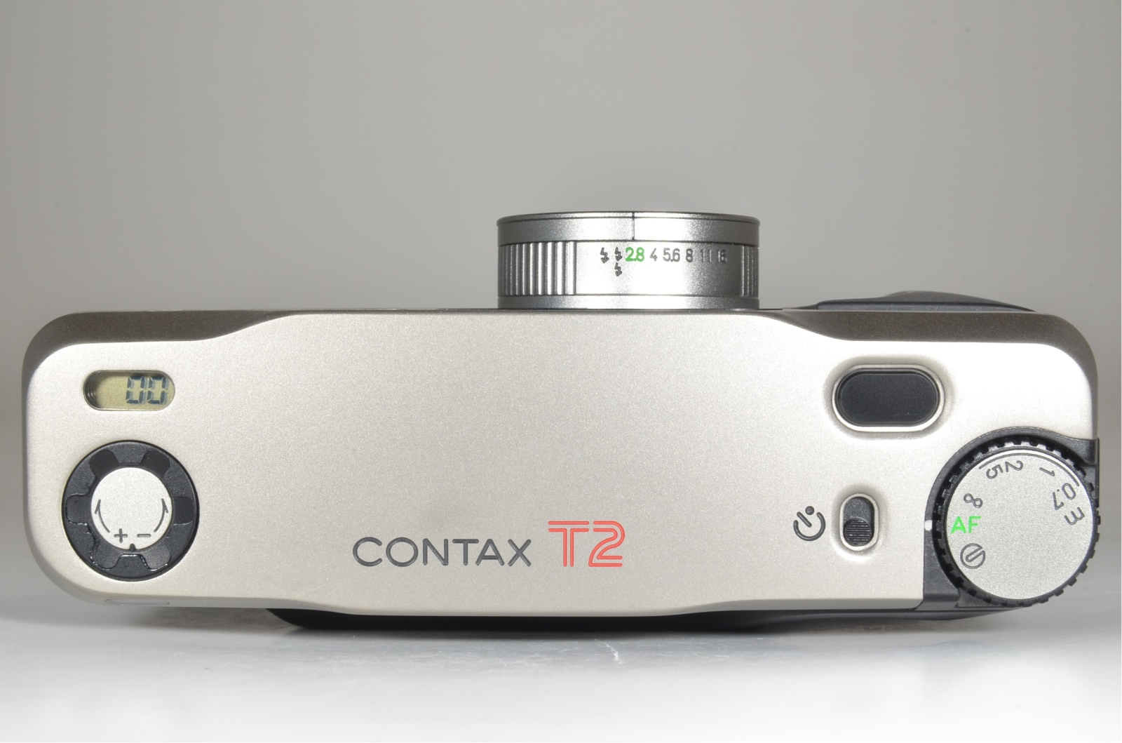 contax t2 titanium silver data back and normal back panel