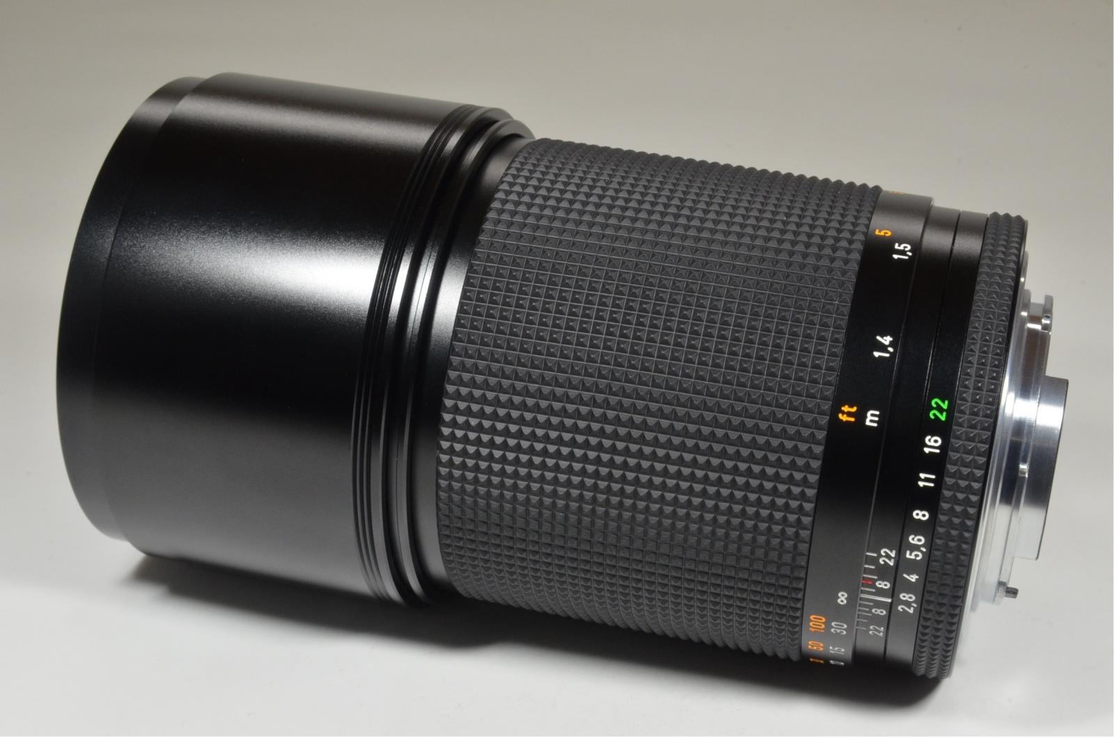 contax carl zeiss sonnar t* 180mm f2.8 mmj japan with metal hood 5