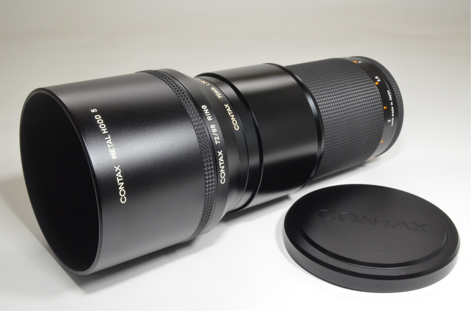 contax carl zeiss sonnar t* 180mm f2.8 mmj japan with metal hood 5