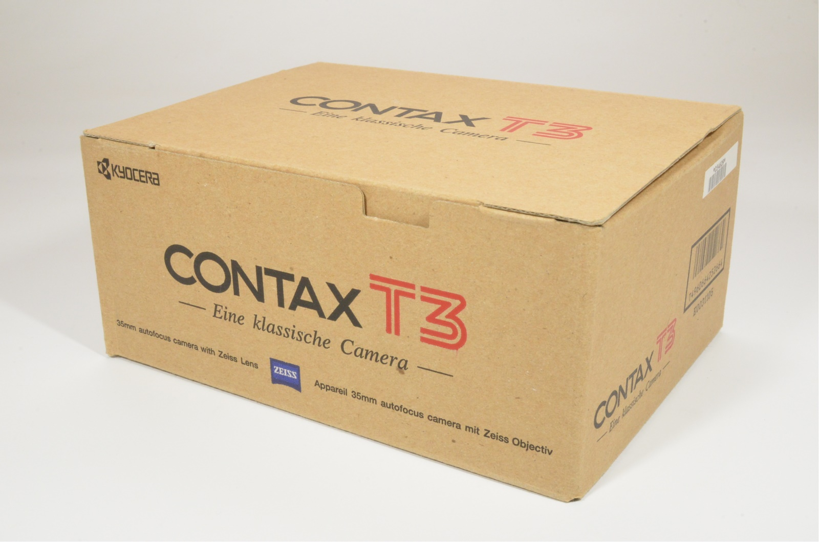 contax t3 double teeth boxed with english instruction manual