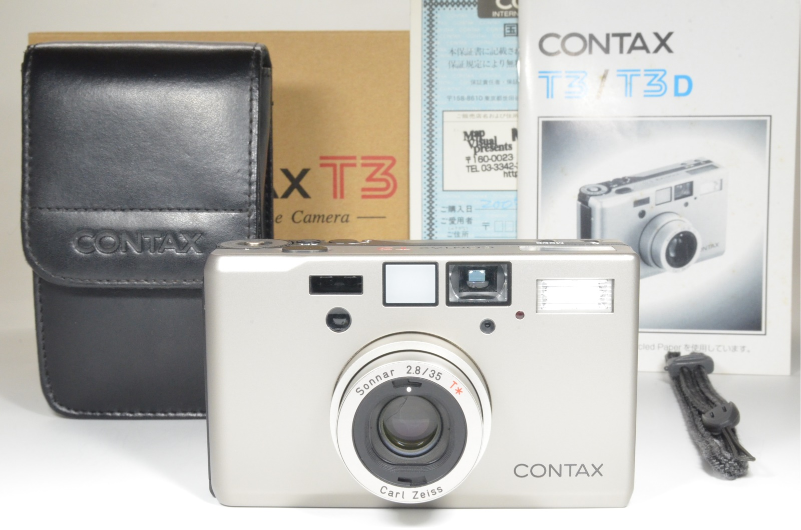 contax t3 titanium silver double teeth 35mm camera film tested