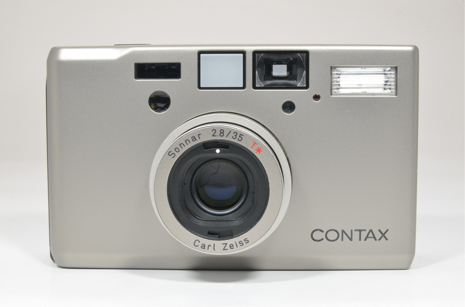 contax t3 titanium silver double teeth 35mm camera #a1345 shooting tested
