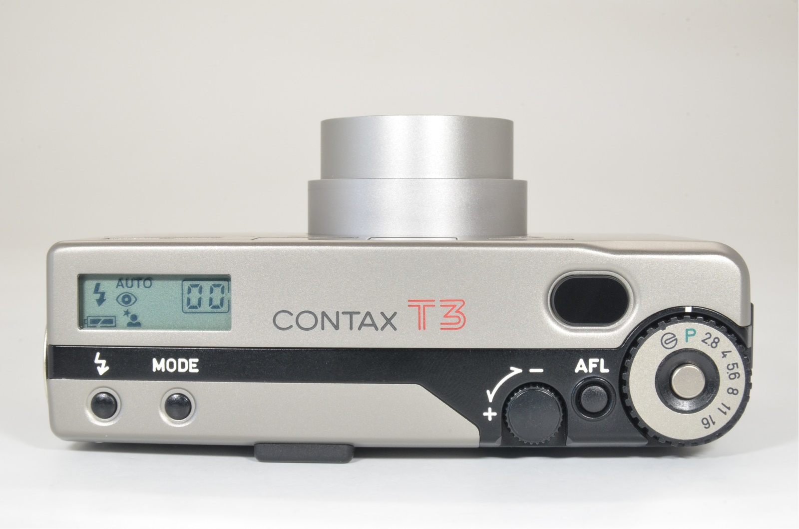 contax t3 titanium silver 35mm film camera with metal hood shooting tested