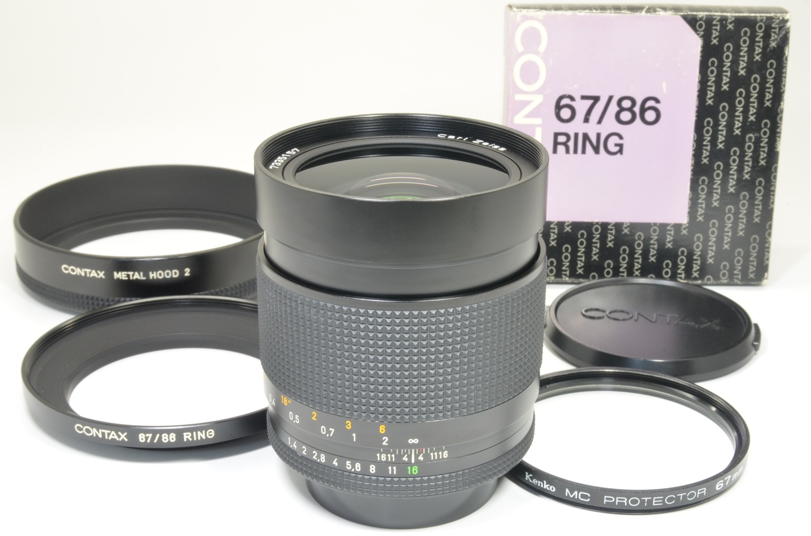 contax carl zeiss distagon t* 35mm f1.4 mmj made in japan with lens hoods #a1407 shooting tested