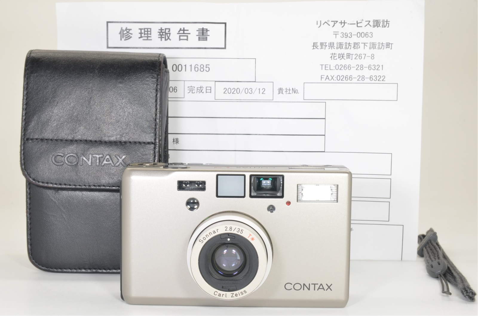 contax t3 titanium silver double teeth serviced recently shooting tested