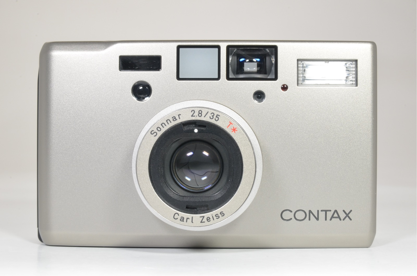 contax t3 titanium silver 35mm film camera mint shooting tested