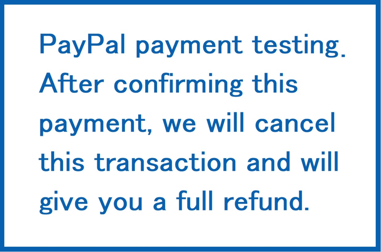 paypal payment testing