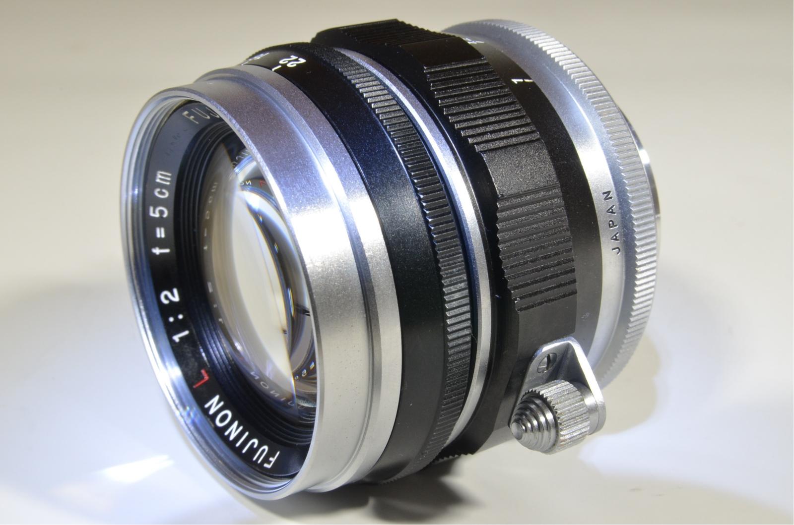 fuji fujinon 50mm 5cm f2 l lens for leica m39 l39 ltm