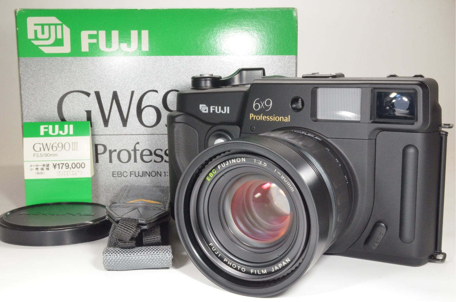 fuji fujifilm gw690iii 90mm f3.5 medium format count only '003' very rare!