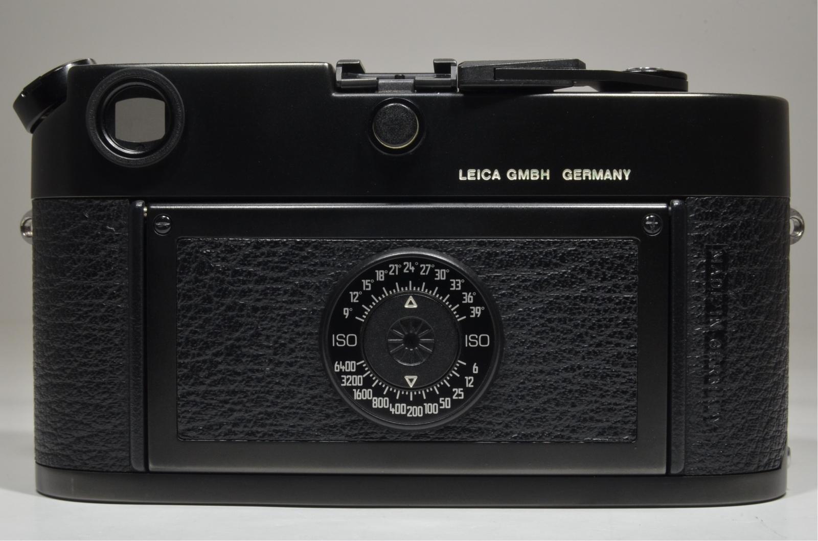 leica m6 black body in boxed 35mm rangefinder film camera