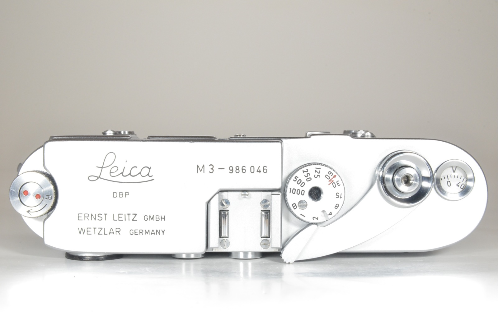 leica m3 single stroke s/n 986046 year 1959 with half leather case and strap