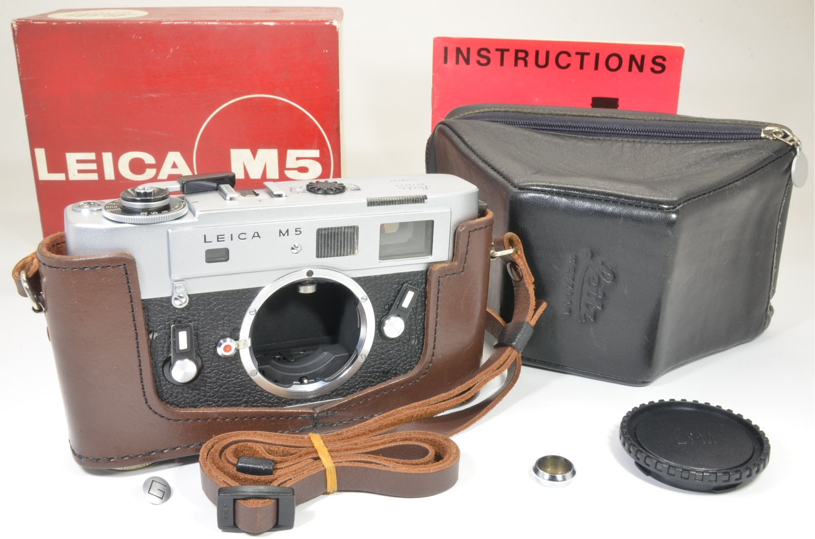 leica m5 silver chrome 3 lug s/n 1362203 year 1973 shooting tested