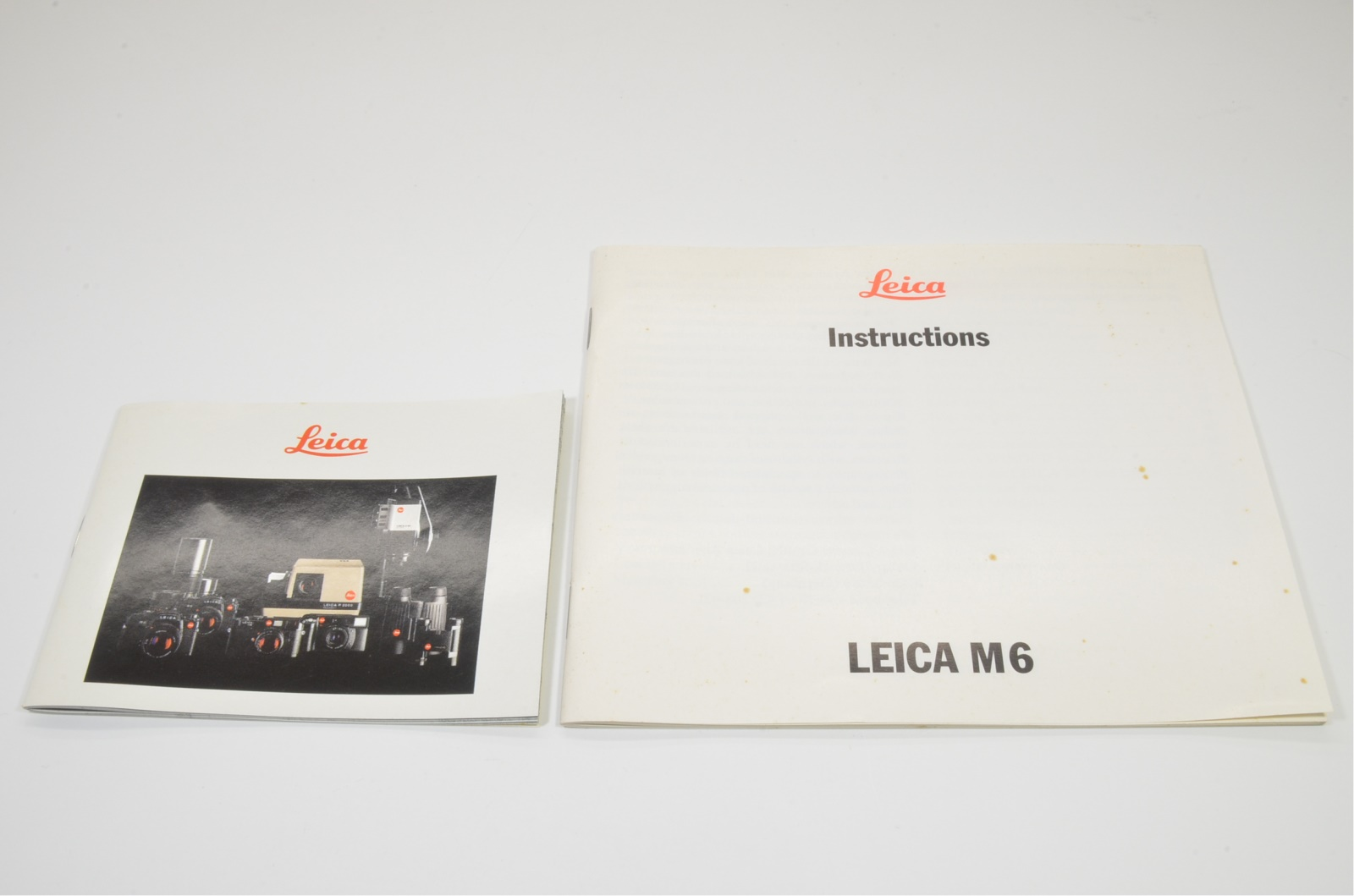 leica m6 (10412) plastic case only with english instructions from japan