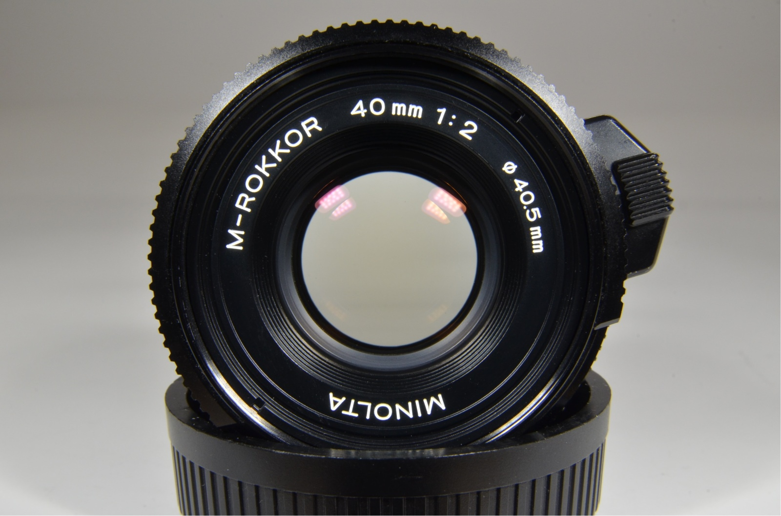 minolta cle film camera with m-rokkor 40mm, 28mm, 90mm and flash