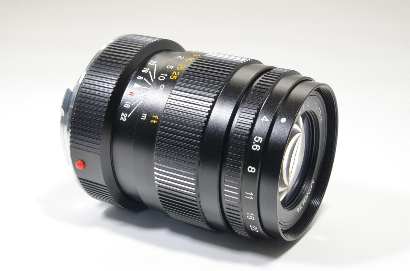 minolta m-rokkor 90mm f4 m-mount lens from japan