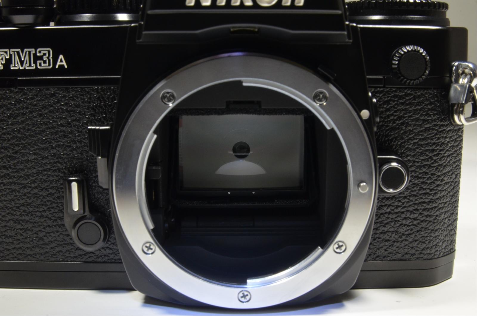 nikon fm3a 35mm film camera black with cf-27