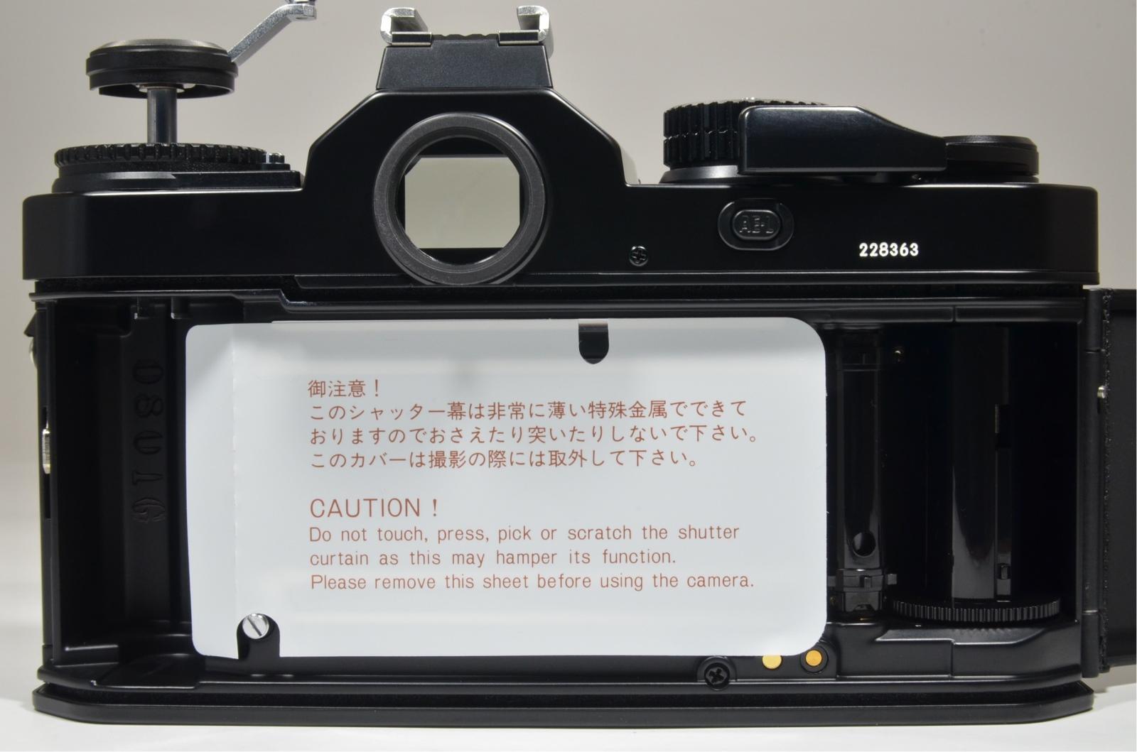 nikon fm3a 35mm film camera black 'unused'