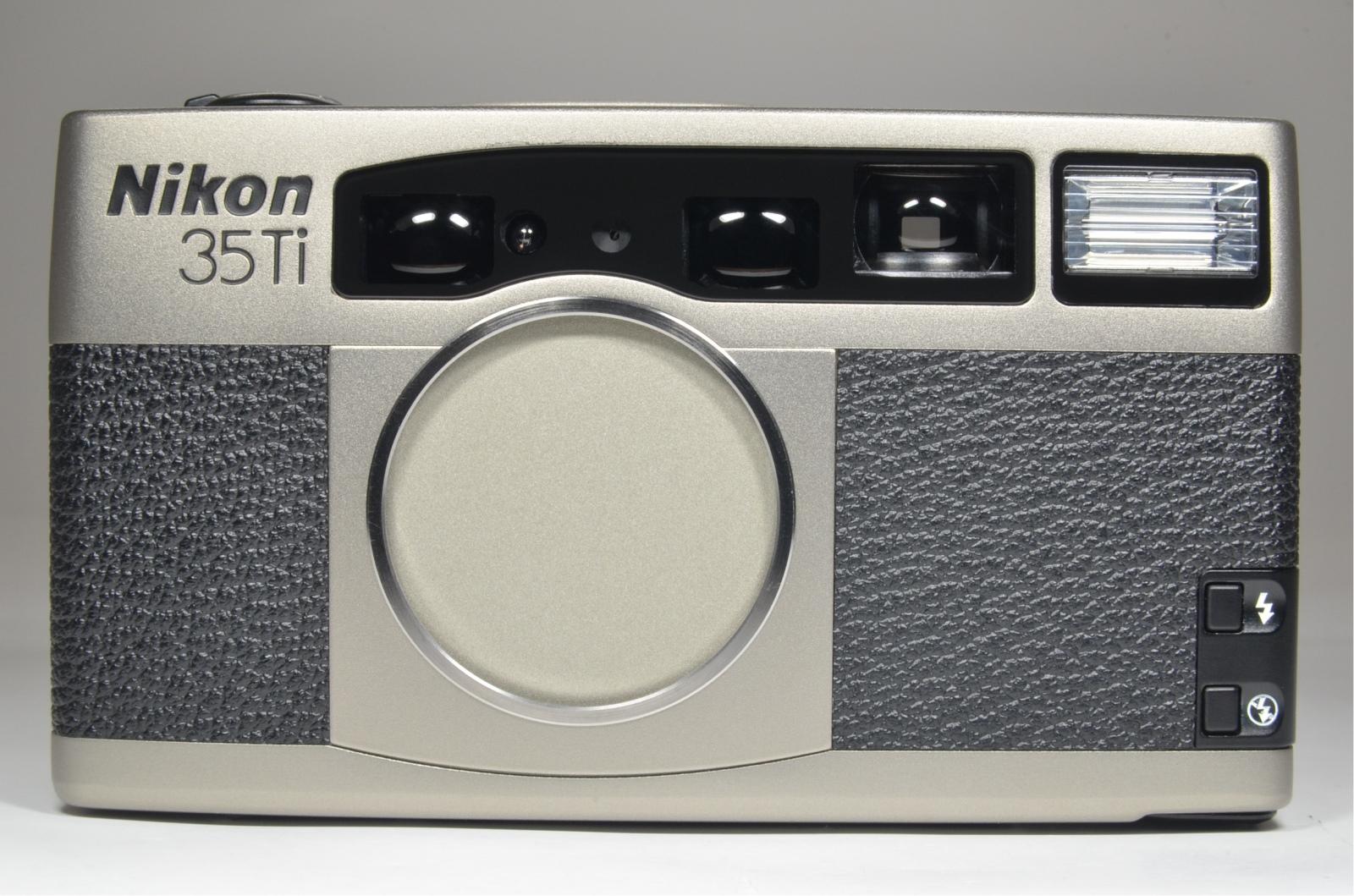 nikon 35ti point & shoot 35mm film camera 35mm f2.8 rare! 'unused' top mint