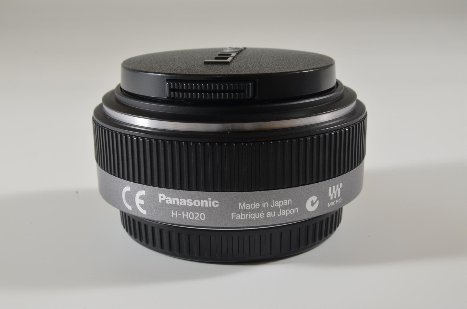 panasonic lumix g 20mm f/1.7 asph h-h020 lens