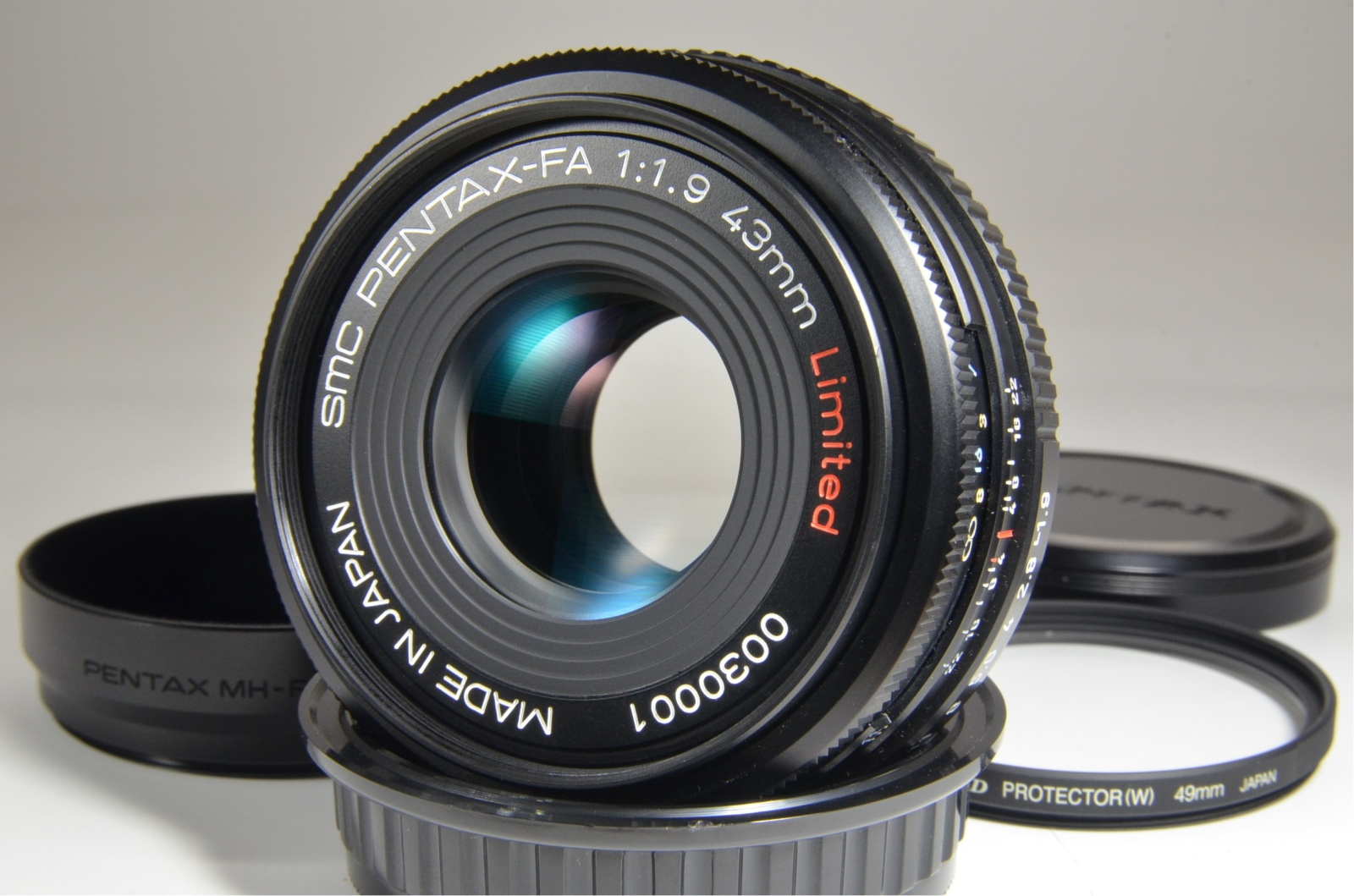 pentax smc fa 43mm f1.9 black limited lens made in japan