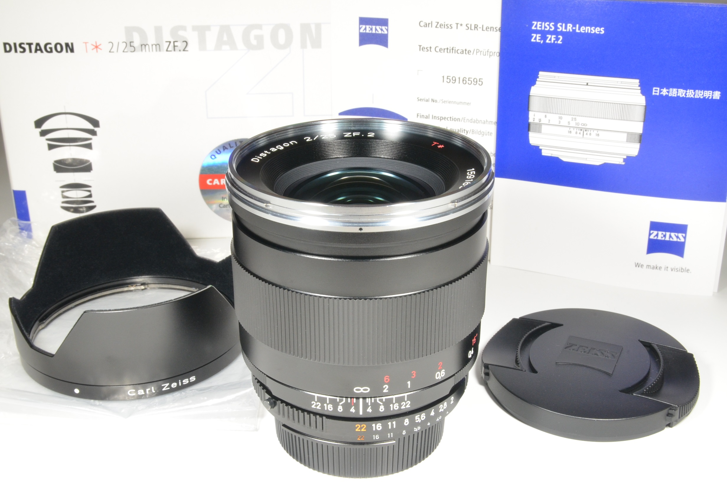 carl zeiss distagon t* 25mm f2 zf.2 for nikon lens