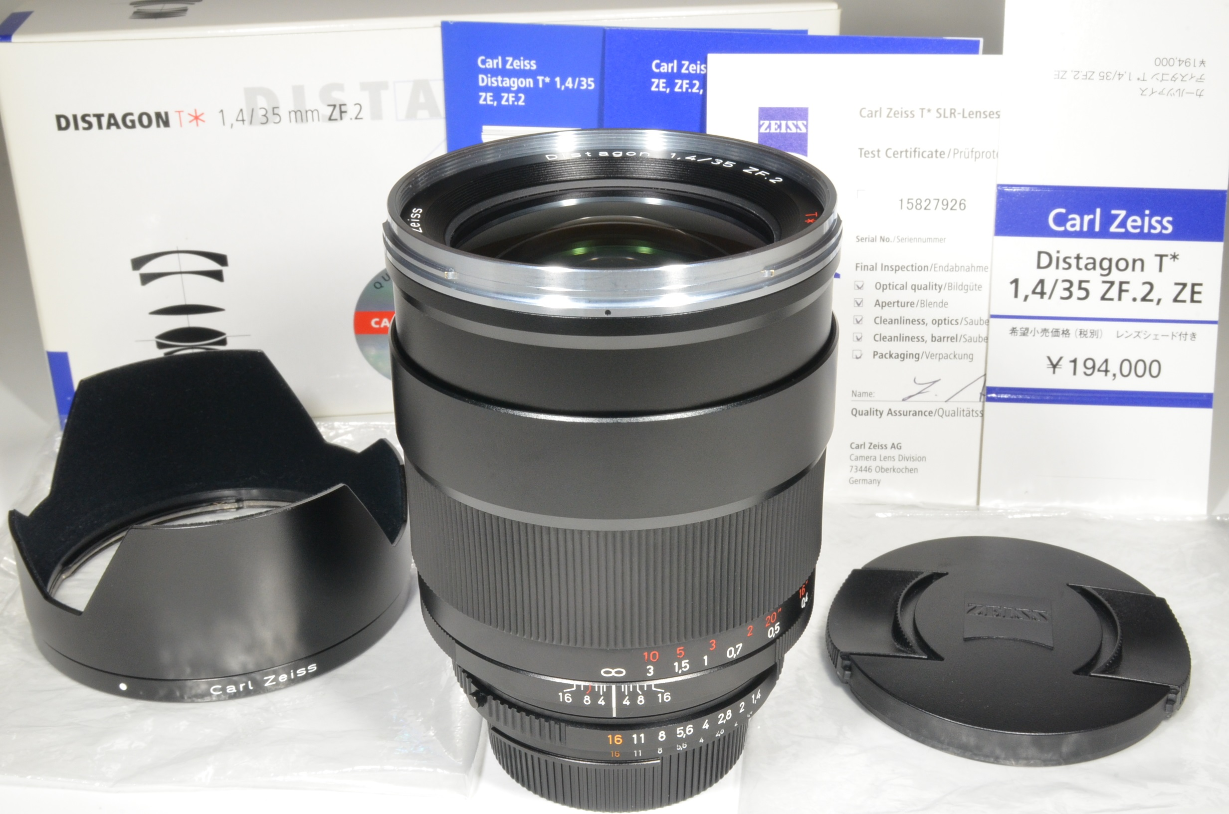 carl zeiss distagon t* 35mm f1.4 zf.2 for nikon lens