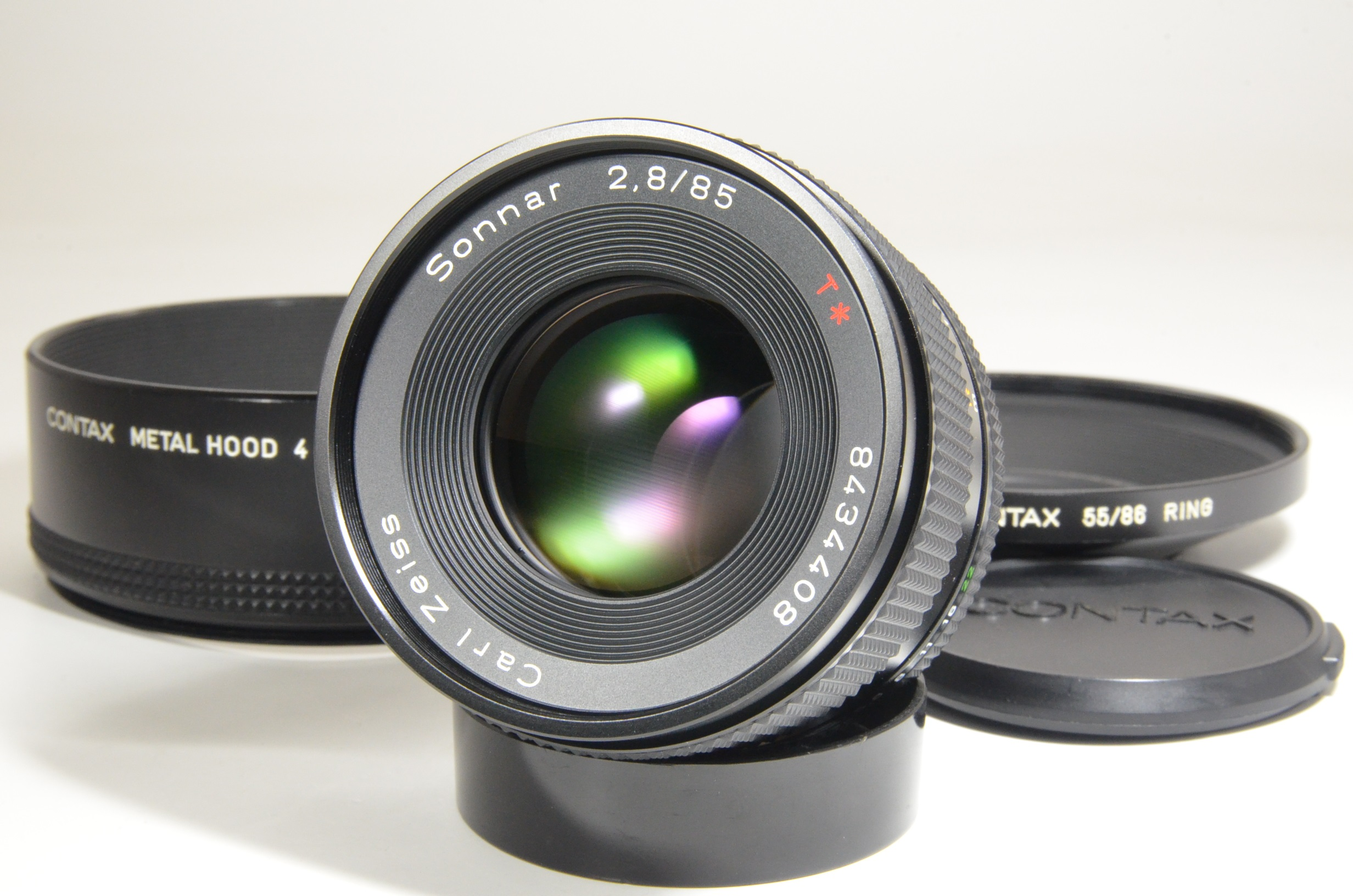 contax carl zeiss sonnar t* 85mm f2.8 mmg with metal hood 4