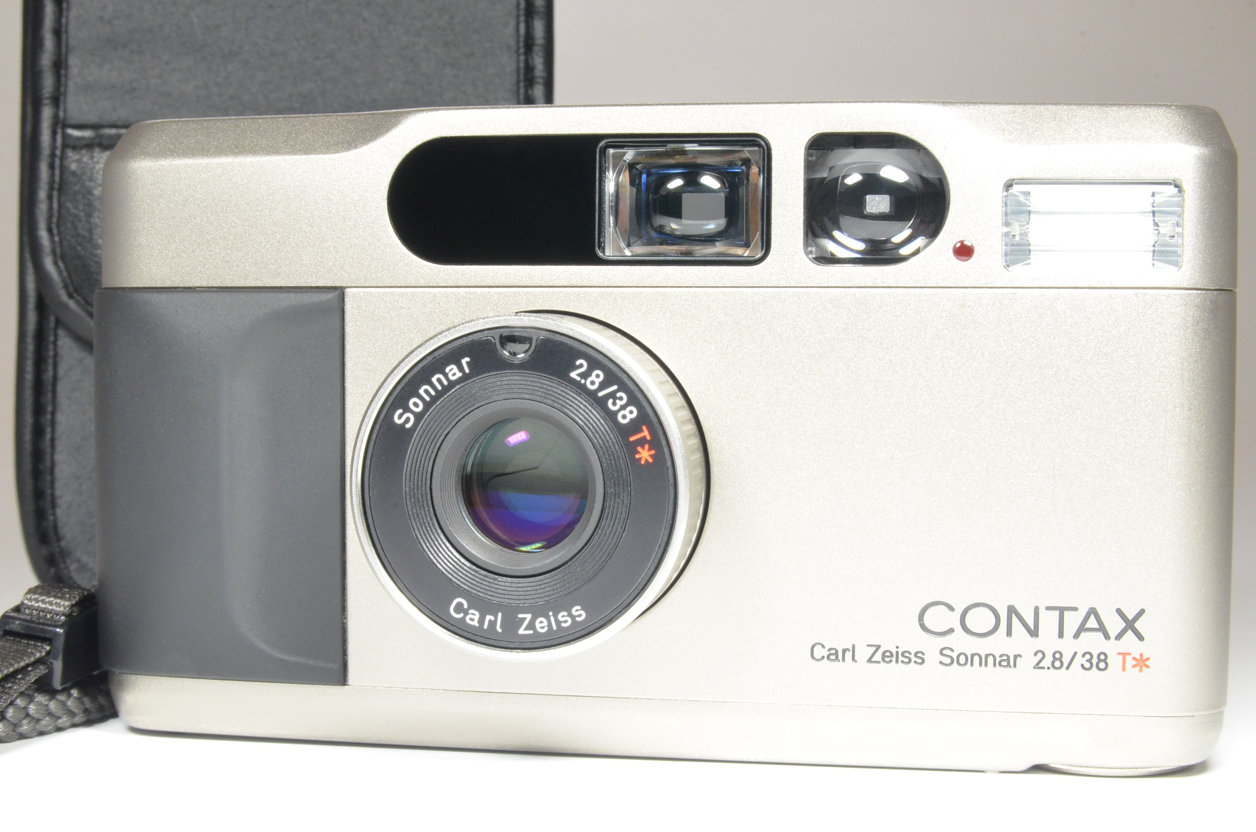 contax t2 titanium silver point & shoot camera   film tested