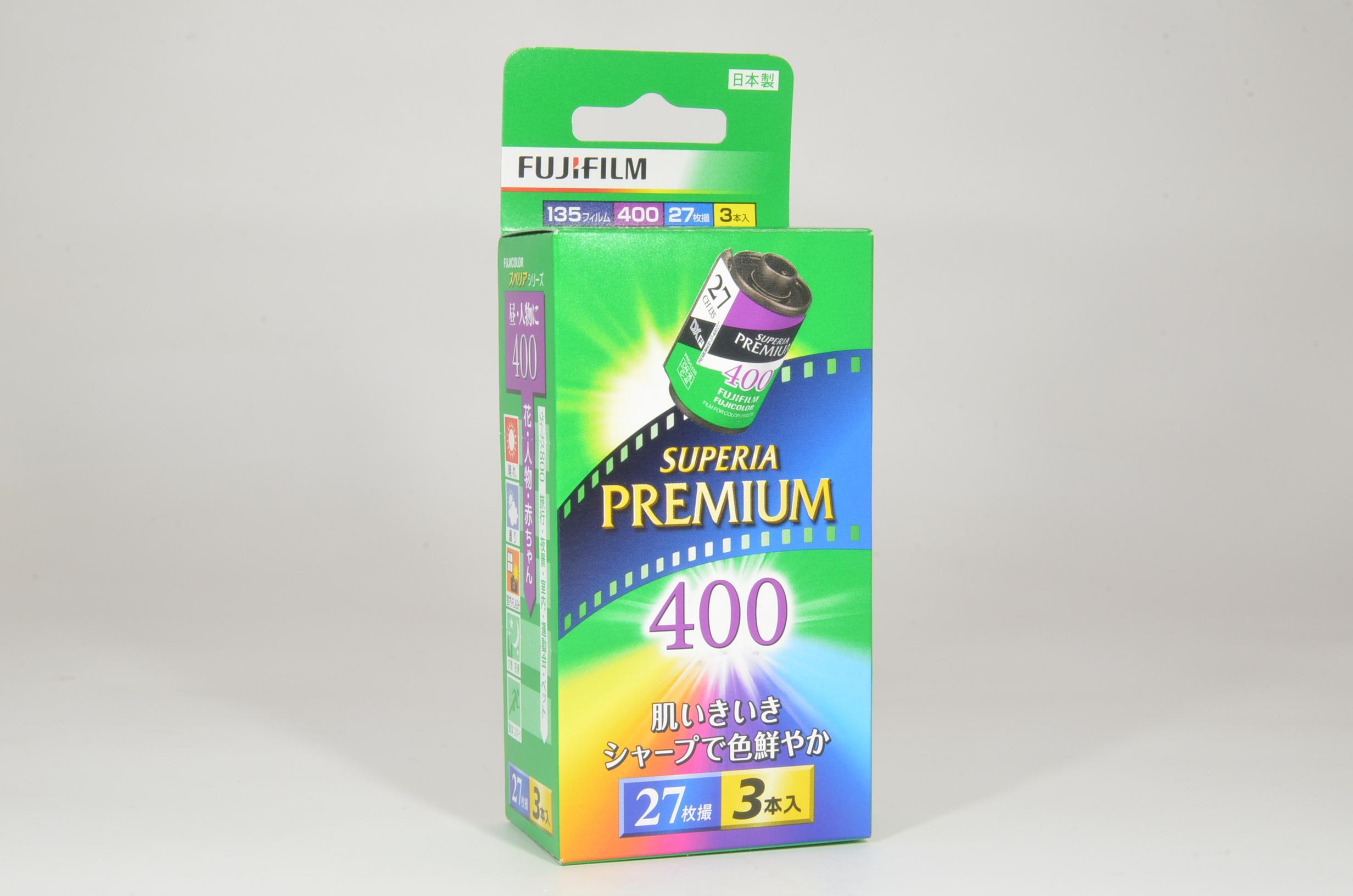 fujifilm superia premium iso 400 daylight color negative 27 exp 3 rolls