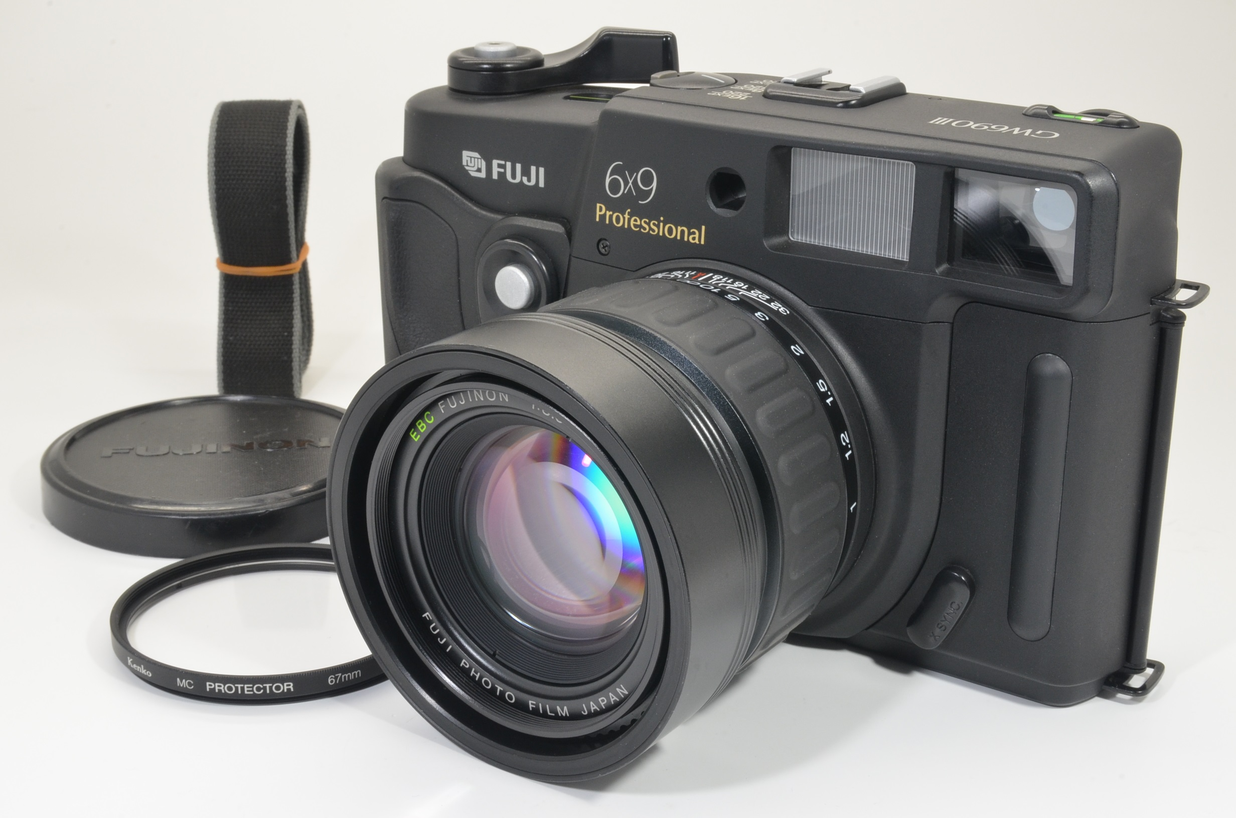 fuji fujifilm gw690iii 90mm f3.5 6x9 medium format camera count 274 film tested