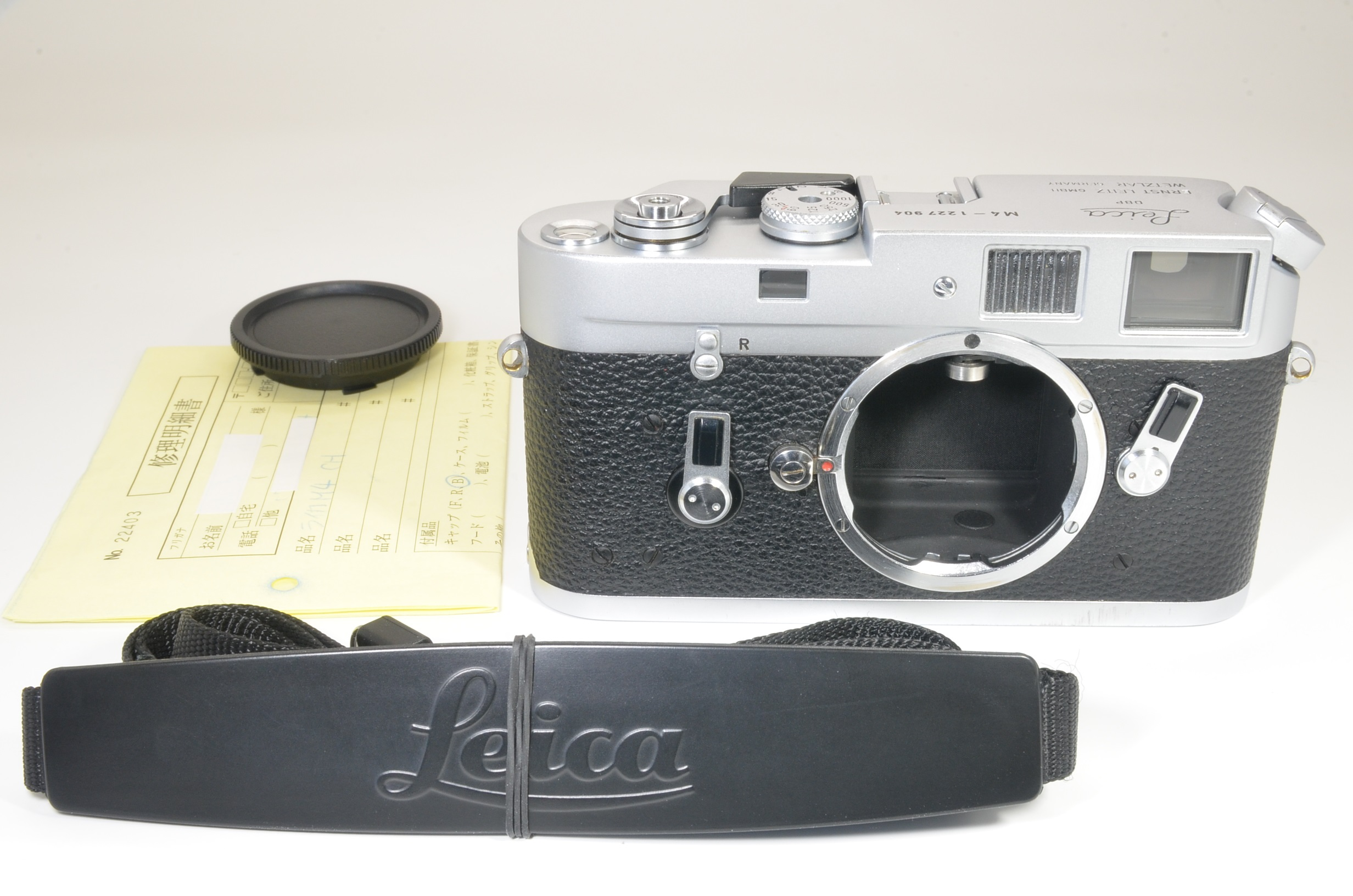 leica m4 silver chrome rangefinder camera s/n 1227904 year 1969 shooting tested