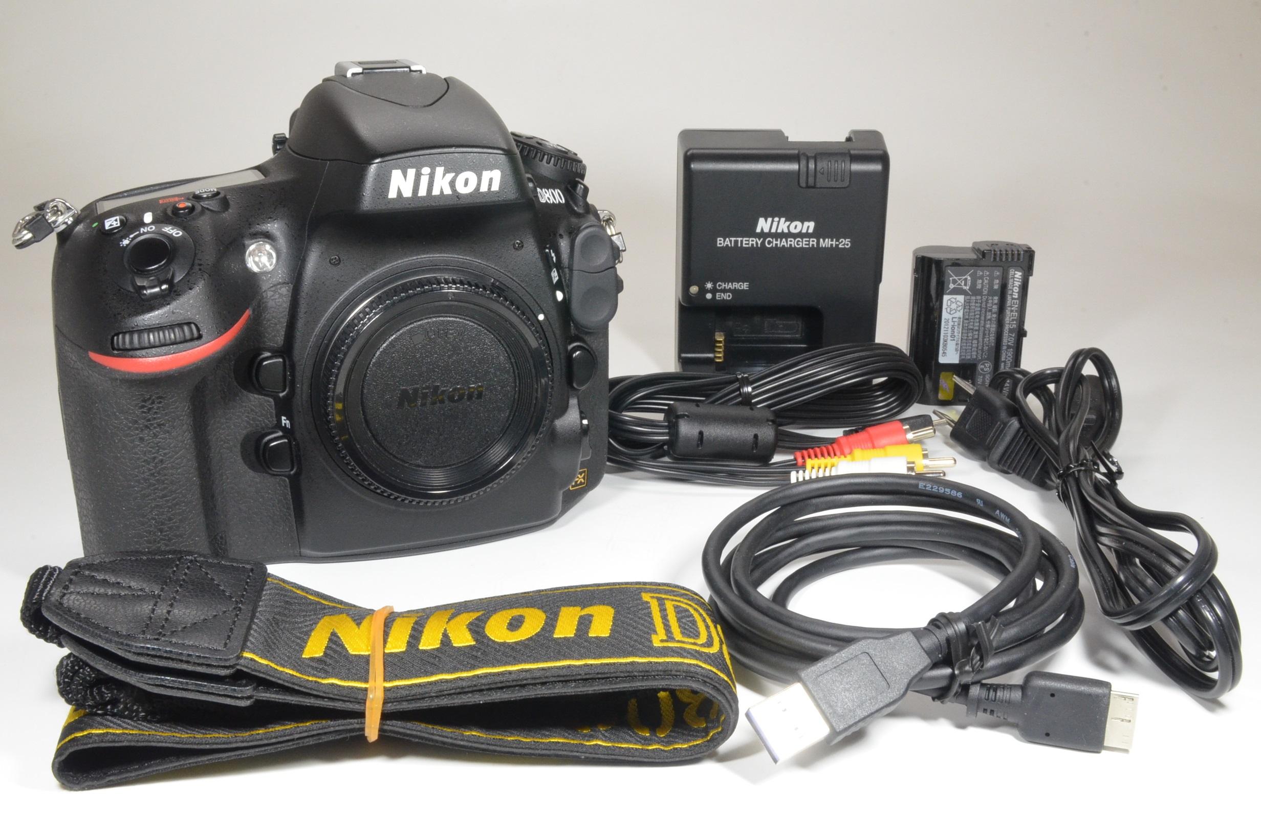 nikon d800 36.3mp digital slr camera body shutter count 9040