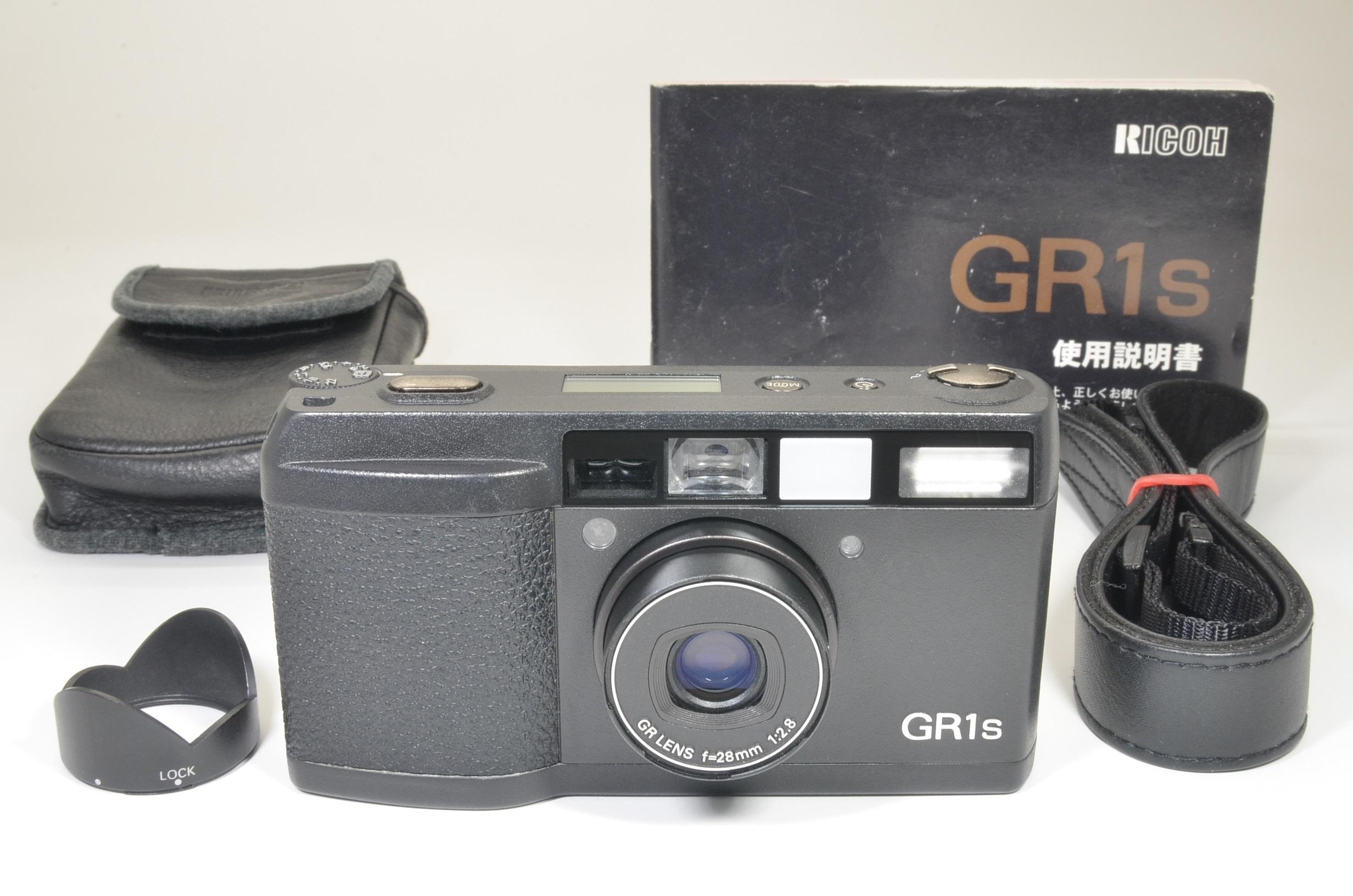ricoh gr1s black 28mm f2.8 film camera   lcd works film tested