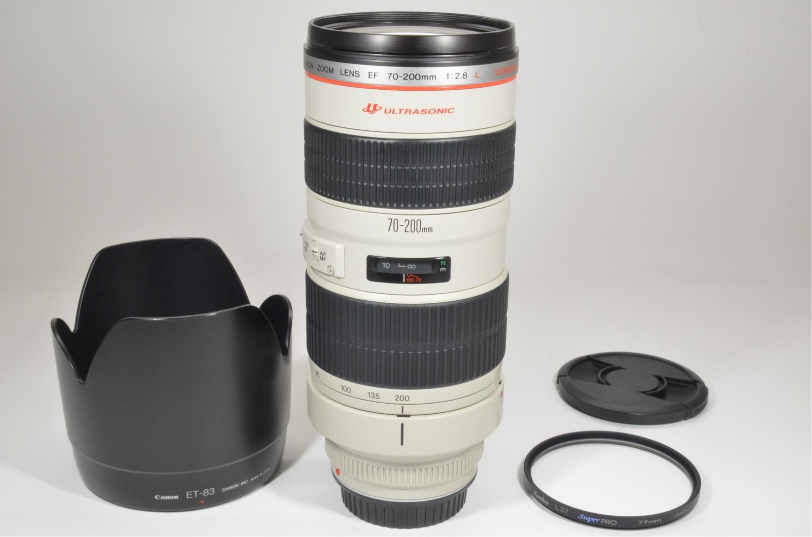 canon ef 70-200mm f/2.8 l usm ultrasonic lens from japan
